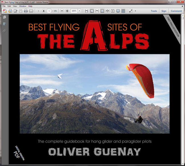 Best Flying Sites of the ALPS ebook PDF front page