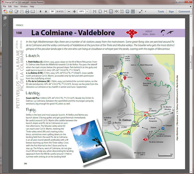 Best Flying Sites of the ALPS ebook PDF screenshot